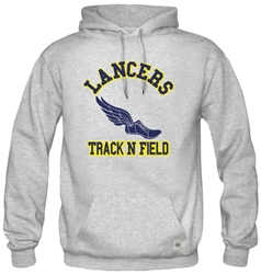 SA12_Hooded Sweatshirt With Large ACS Athens Track & Field Logo