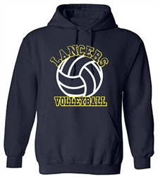 SA13_Hooded Sweatshirt With Large ACS Athens Volleyball Logo