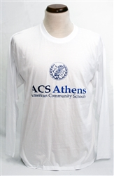 T02_Long Sleeve T-Shirt  with Large ACS Athens Logo with Owl