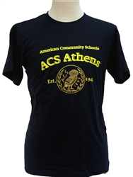 T03_Short sleeve T-Shirt with ACS Athens Logo with Big Owl