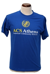 T09_Short Sleeve T-Shirt with ACS Athens Logo and small Owl