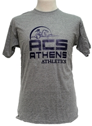 T10_Short Sleeve T-Shirt with Large ACS Athens Athletics logo with Lancer