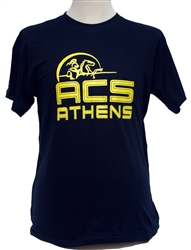 T14_Short Sleeve T-Shirt with Large ACS Athens Logo with Lancer