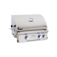 "AOG 24 Built-In Grill ""L"" Series with Rotisserie Back Burner and High Performance Rotisserie Kit"