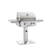 "AOG 24-in Patio Post Mount Grill ""L"" Series with Back Burner and Rotisserie Kit"