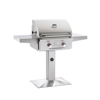 "AOG 24-in Patio Post Mount Grill ""T"" Series with Back Burner and Rotisserie"