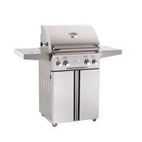 "AOG 24-in Stand Alone Grill ""T"" Series with Backburner, Rotisserie Kit and Side Burner"