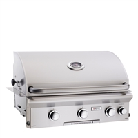 "AOG 30 Built-In Grill ""L"" Series With Rotisserie Back Burner and High Performance Rotisserie Kit"