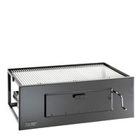 Fire Magic Lift-A-Fire Built-In Charcoal Grill, 24-in