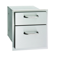 Fire Magic Select Double Drawer, 16-In x 14-In