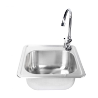 Fire Magic Stainless Steel Sink and Faucet Set