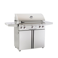 "AOG 36-in Stand Alone Grill ""T"" Series with Back Burner, Side Burner, and Rotisserie"