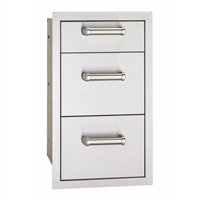 Fire Magic Flush Mounted Triple Drawer Soft Close, 26-In x 14-In