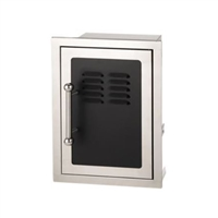 Fire Magic Black Diamond Door w/Tank Tray & Louvers Soft Close