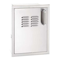 Fire Magic Flush Mounted Single Door With Tank Tray And Louvers Soft Close, 21-In x 14-In