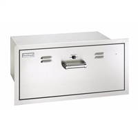 Fire Magic Flush Mounted Electric Warming Drawer, 14-In x 32-In