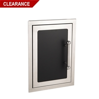 Fire Magic Black Diamond Single Access Door, 21-inh x 14 1/2-inw, Left Hinge