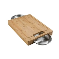 Napoleon Pro Cutting Board With Stainless Steel Bowls