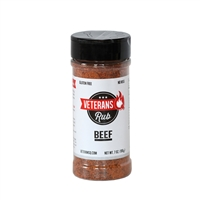 Veterans Q Beef Rub - 7 oz.