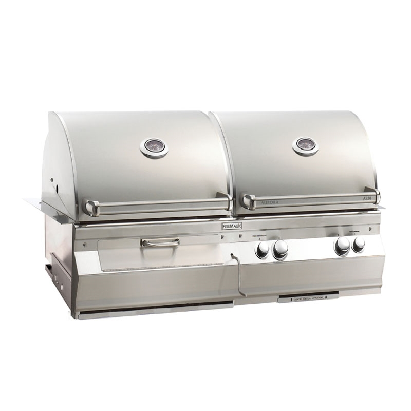 Fire Magic Aurora A830i Built In Gas Charcoal Combo Grills