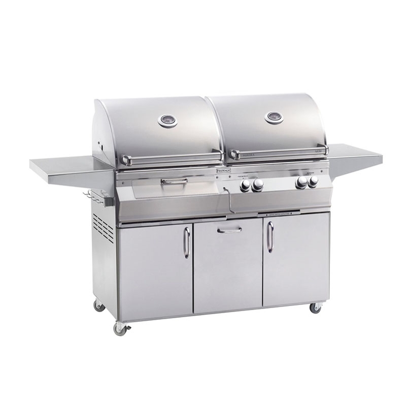 Fire Magic Aurora A830s Stand Alone Gas Charcoal Combo Grills