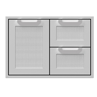 Hestan Double Drawer and Storage Door Combo