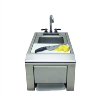 "Alfresco 14"" Prep & Hand Wash Sink"