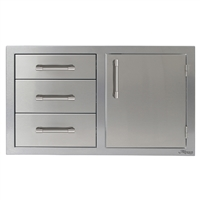 "Alfresco 32"" Single Door, Triple Drawers"