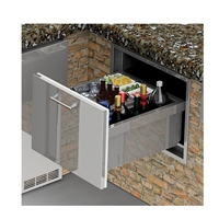 "Alfresco 26"" Under Counter Ice Drawer & Bev Center Insulated"