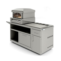 "Alfresco 30"" Deluxe Pizza Oven Prep Cart"