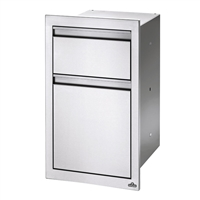 "Napoleon 18"" x 24"" Double Drawer: Waste Bin and Paper Towel Holder"