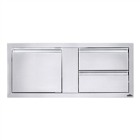 "Napoleon 42"" X 16"" Single Door & Double Drawer Combo"