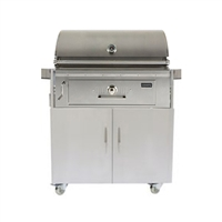 "Coyote 36"" Charcoal Grill on Cart"