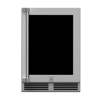 Hestan 24-in Outdoor Dual Zone Refrigerator with Wine Storage (UV-Coated Glass Door)