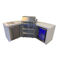 Mont Alpi 400 Deluxe Island with Fridge and Corners