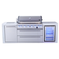Mont Alpi 805 Deluxe Island with Fridge Cabinet, Infrared Side Burner