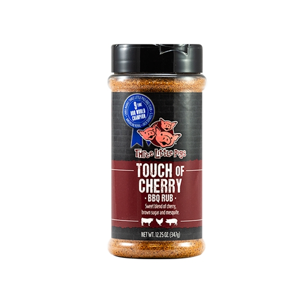 Three Little Pigs Touch of Cherry BBQ Rub - 12.25 oz.