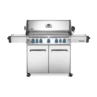 Napoleon Prestige 665 Gas Grill with Infrared Side and Rear Burners in Stainless Steel