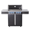 Mont Alpi Supreme 4 Burner Cart Grill in Black