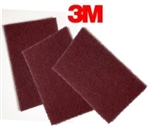 "3M 7447 Scotch Brite Pads 6"" x 9"" Maroon Lowest Price"