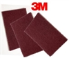 "3M 8447 Scotch Brite Pads 6"" x 9"" Maroon Lowest Price"