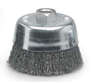 "6"" x 5/8""-11 Steel Crimped Wire Cup Brush"