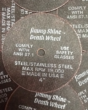 "3"" and 4""  Jimmy Shine ""Death Wheel"" Cut Off Wheel *Made in USA*"