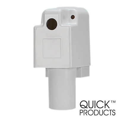 Quick Products JQ-RHW  Plastic Replacement Housing for 3500 Series Electric Tongue Jack (White)