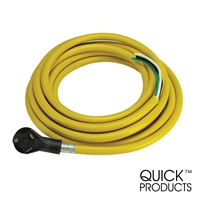 "Quick Products QP-30-25H 30 Amp RV Cord - Grip Handle Plug and 6"" Loose End, 25'"