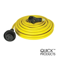 Quick Products QP-30-50TH 30 Amp RV Cord - Grip Handle Plug and Twist Lock, 50'