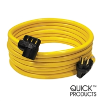 Quick Products QP-50-30FH 50 Amp RV Cord - Grip Handle Plug, 30'