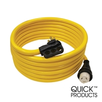 Quick Products QP-50-30TH 50 Amp RV Cord - Grip Handle Plug and Twist Lock, 30'