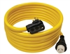 Quick Products QP-50-50TH 50 Amp RV Cord - Grip Handle Plug and Twist Lock, 50'