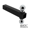 "Quick Products QP-HS1820 Class III Trailer Ball Mount with Double Welded Hitch Balls - 5000 lbs. (1-7/8"" and 2"" Ball Size)"